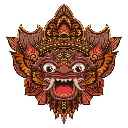 Traditionele rituele Balinese masker vector