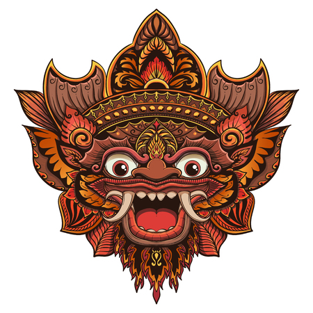Traditional ritual Balinese mask vector