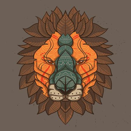 Vector Color Lion Illustration Illustration
