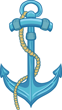Vector cartoon anchor