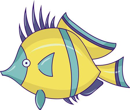Cartoon fish. Vector illustration