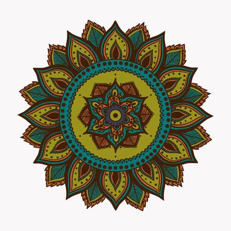 Vector Beautiful Handdrawn Mandala, Patterned Design Element