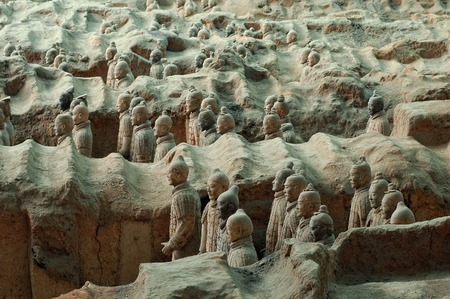 qin: The ancient Terracotta Army of Qin Shi Huang near the city of Xian in Shaaxi province in China