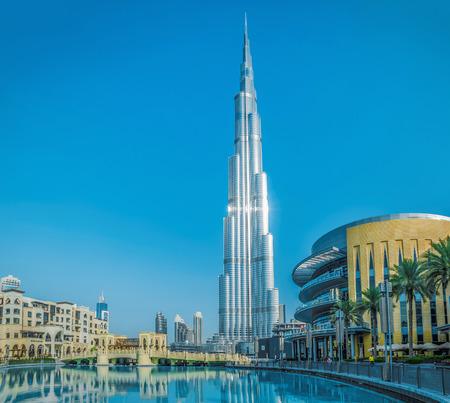 DUBAI, UAE - JULY 20: Burj Khalifa, the tallest building in the world