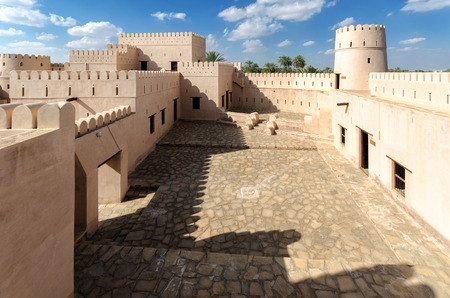 bani: Jalan Bani Bu Hassan Fort - the 13th century renovated fort, Sultanate of Oman Editorial