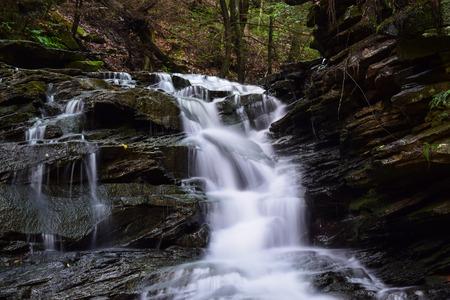 appalachian: Waterfall on a small Appalachian Mountain Stream.