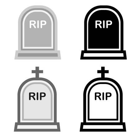 grave stone: Grave stone icon set Illustration