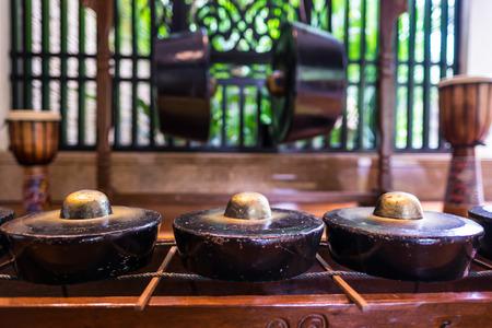 Traditie gong of trommel gebruikt door de inheemse bevolking van Borneo genoemd Kadazan en Dusun.