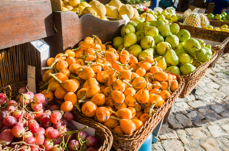 Fresh local fruits sold at local market at Sintra, Portugal