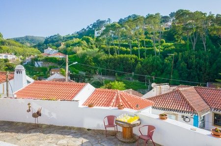 View of houses at mountainous Sintra, Portugal