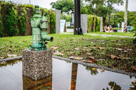 Traditional Manual Water Pump Seen in Ping Tung, Taiwan