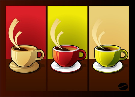 Coffee cup background illustration Vector