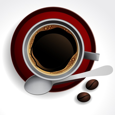 Coffee cup background illustration Stock Vector - 10452976