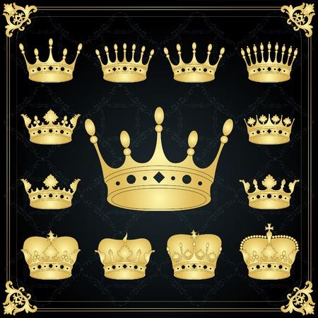 nobleman: Annata d'oro mantello regale corona di raccolta armi