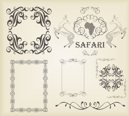 Vintage calligraphic elements and ornaments set Vector