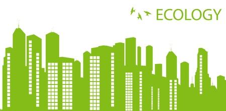 Green Eco city ecology vector background concept Vector