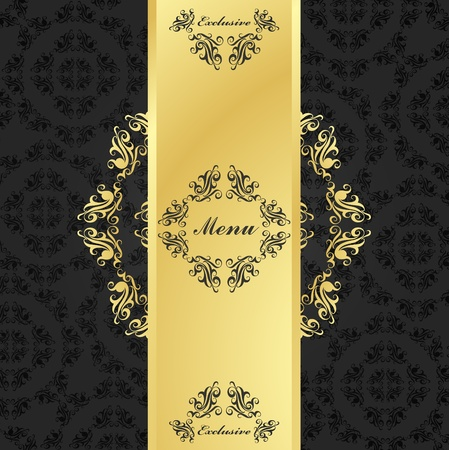 abstract liquor: Golden vintage vector background cover Illustration