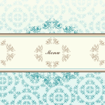 Vintage blue vector background card or book cover Vector