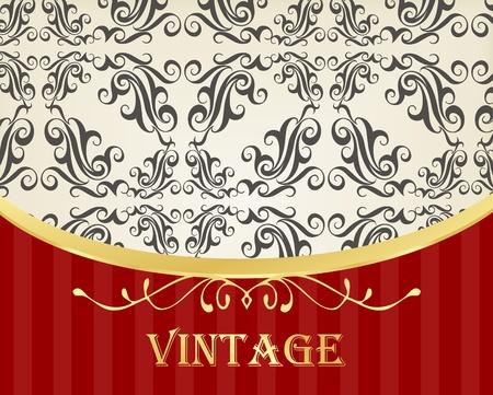 Golden vintage vector background cover Vector