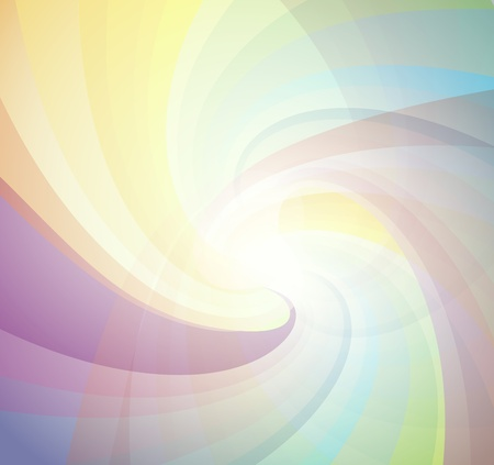 smooth curve design: Abstract colorful transparent lights illustration
