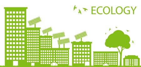 palazzo: Verde Eco citt� ecologia concetto di fondo