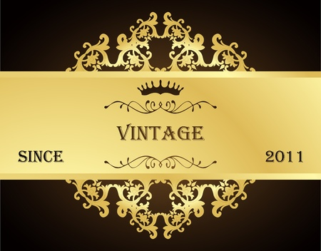 vintage wallpaper: Vintage background  with golden elements