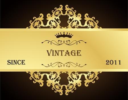 venetian victorian: Vintage background  with golden elements