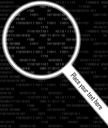translate: Magnifying glass search internet searching concept  background illustration