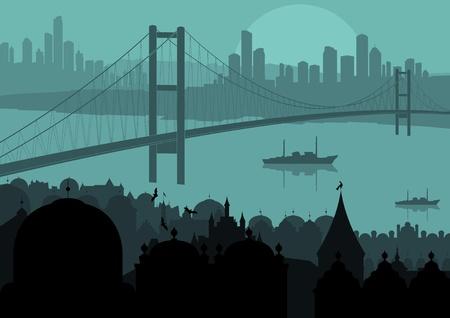 Vintage Europe city landscape illustration Stock Vector - 10492579