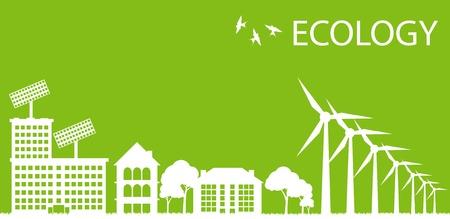 Green Eco city ecology vector background concept Stock Vector - 10492569