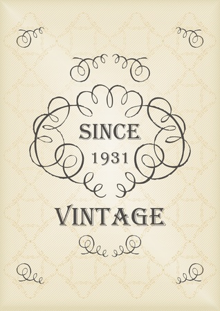 Vintage vector background cover Stock Vector - 10492644