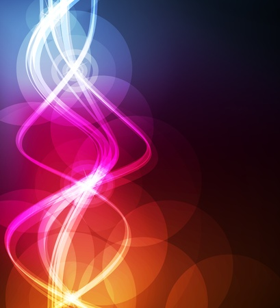 colorful lights: Abstract wave background with neon effects and colorful lights