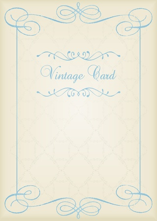 Vintage background card in Victorian style Vector
