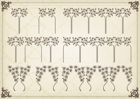 Vintage elements illustration vector set Vector