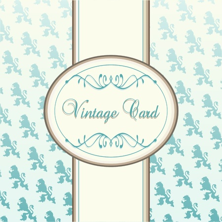 free vintage background: Vintage vector background for card or book cover Illustration