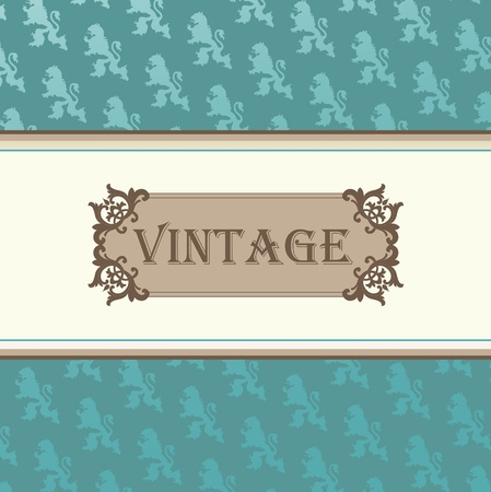 Vintage vector background for card or book cover Stock Vector - 10568951