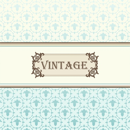 Vintage vector background for card or book cover Stock Vector - 10568972