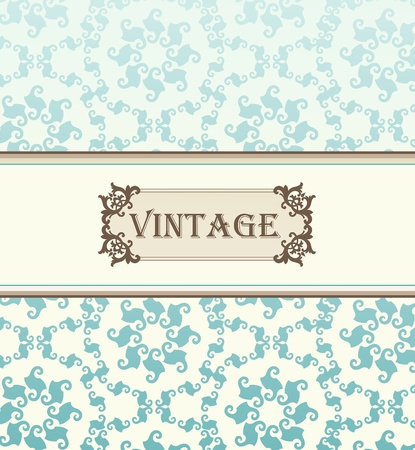 Vintage vector background for card or book cover Vector