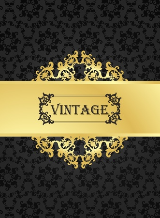 rococo: Vintage vector background for card or book cover Illustration
