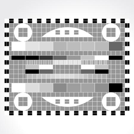 テレビ テストの画面のアニメーションを作成しています  イラスト・ベクター素材