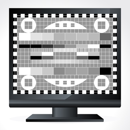Animated television test screen illustration Vector