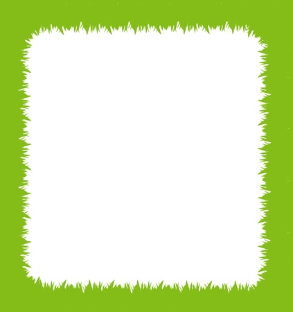 Green grass frame with text area copyspace isolated on white background Stock Vector - 10569032