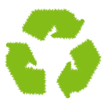 Recycle Symbol made of grass Vector
