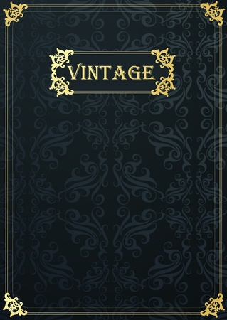 Luxury golden vintage background