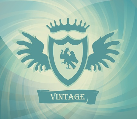 Coat of arms vector background with transparent background Vector