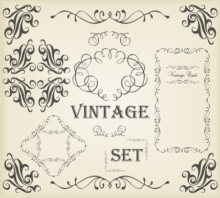 free border: Vintage vector background with copy space Illustration