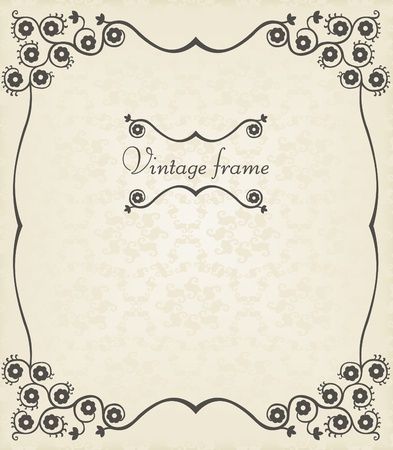 most popular: Vintage vector background with copy space Illustration