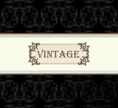 Vintage vector background with copy space Vector