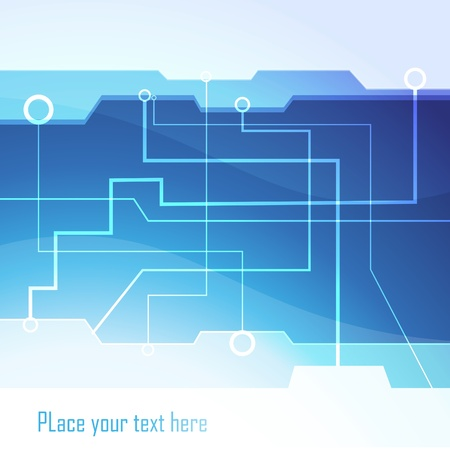 hi tech background: Hi-tech vector background Illustration