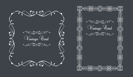 Vintage wedding invitation frame illustration